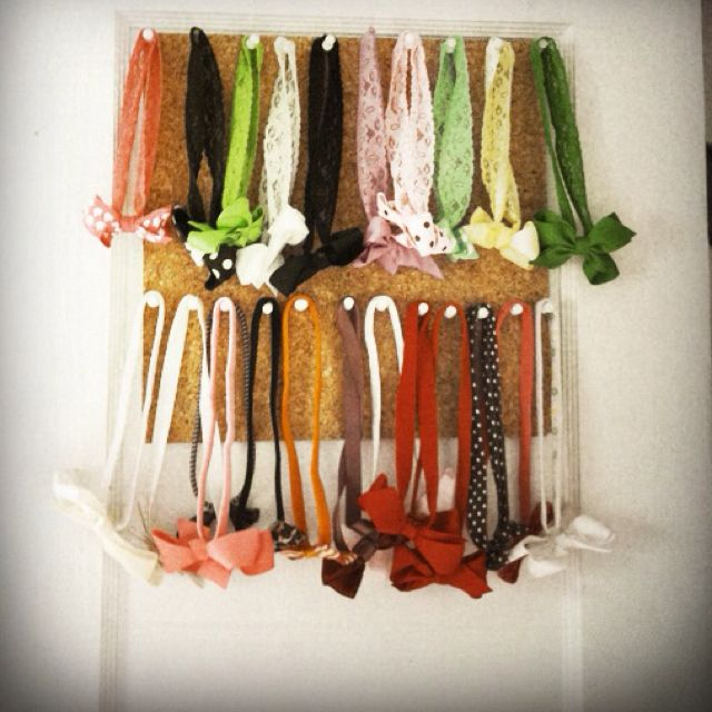 Alternative to oatmeal canister baby headband storage... Easier to access. Industrial Velcro & Alternative to oatmeal canister baby headband storage... Easier to ...