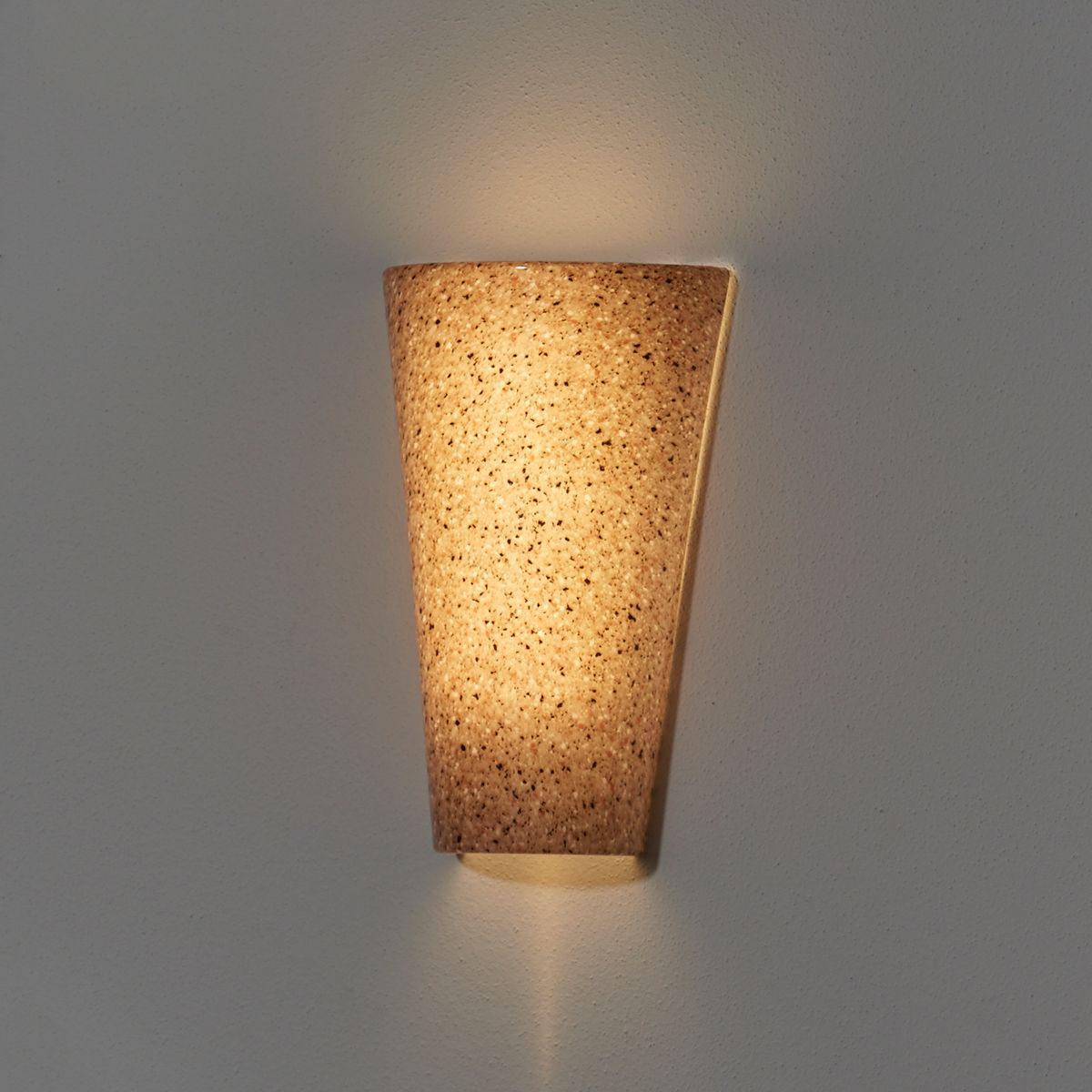 Vivid Granite Sconce Wireless Conical Led Battery Powered