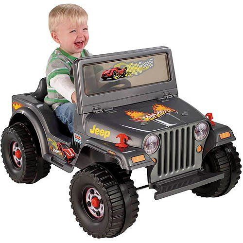Fisher Price Power Wheels Charcoal Hot Wheels Jeep 6 Volt Battery