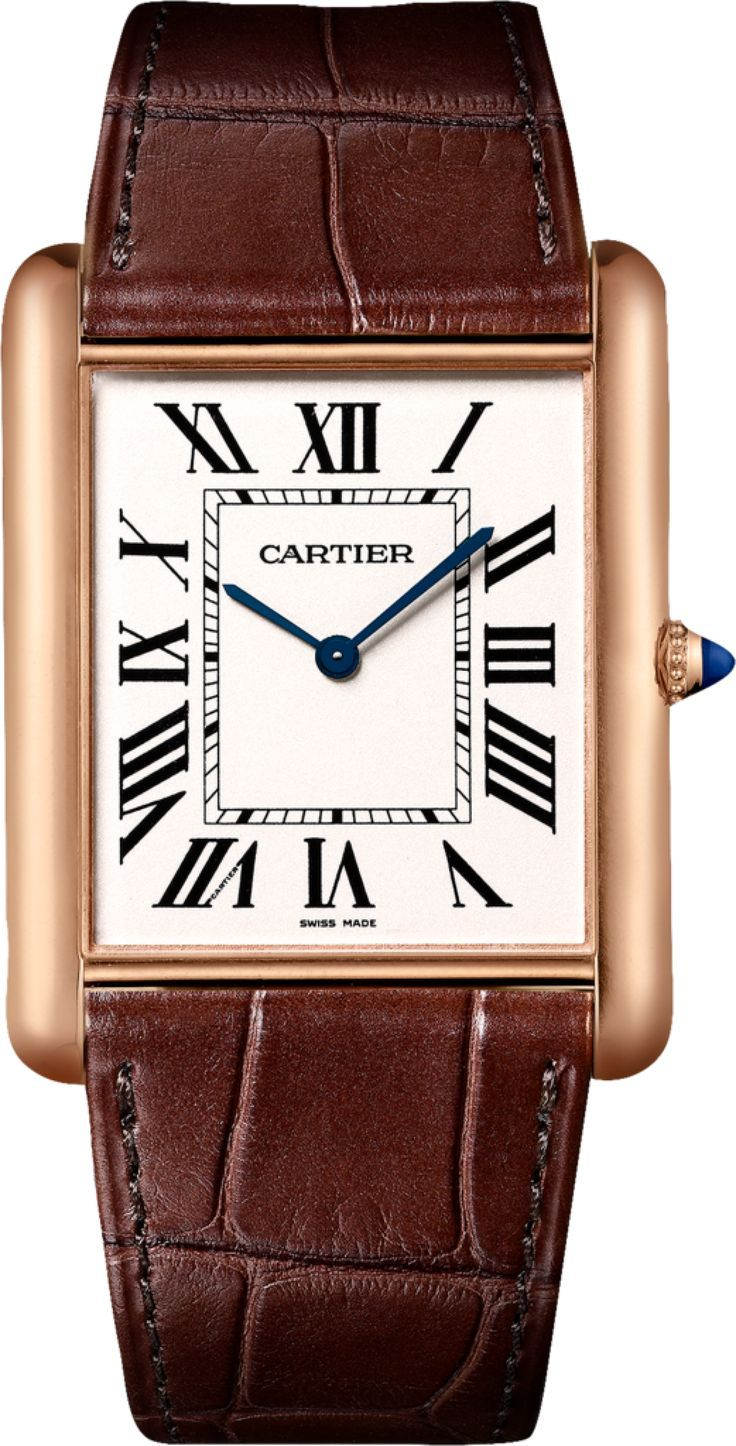 fine exotic watches en cartier women brown leather designers gold golden jewellery plated dark tank womens silver