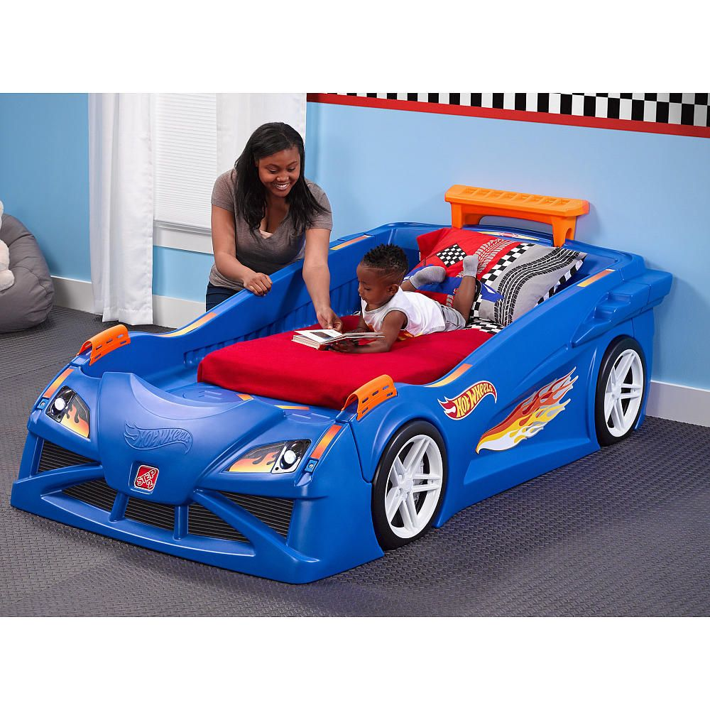 Beautiful Step2 Hot Wheels Toddler To Twin Race Car Bed