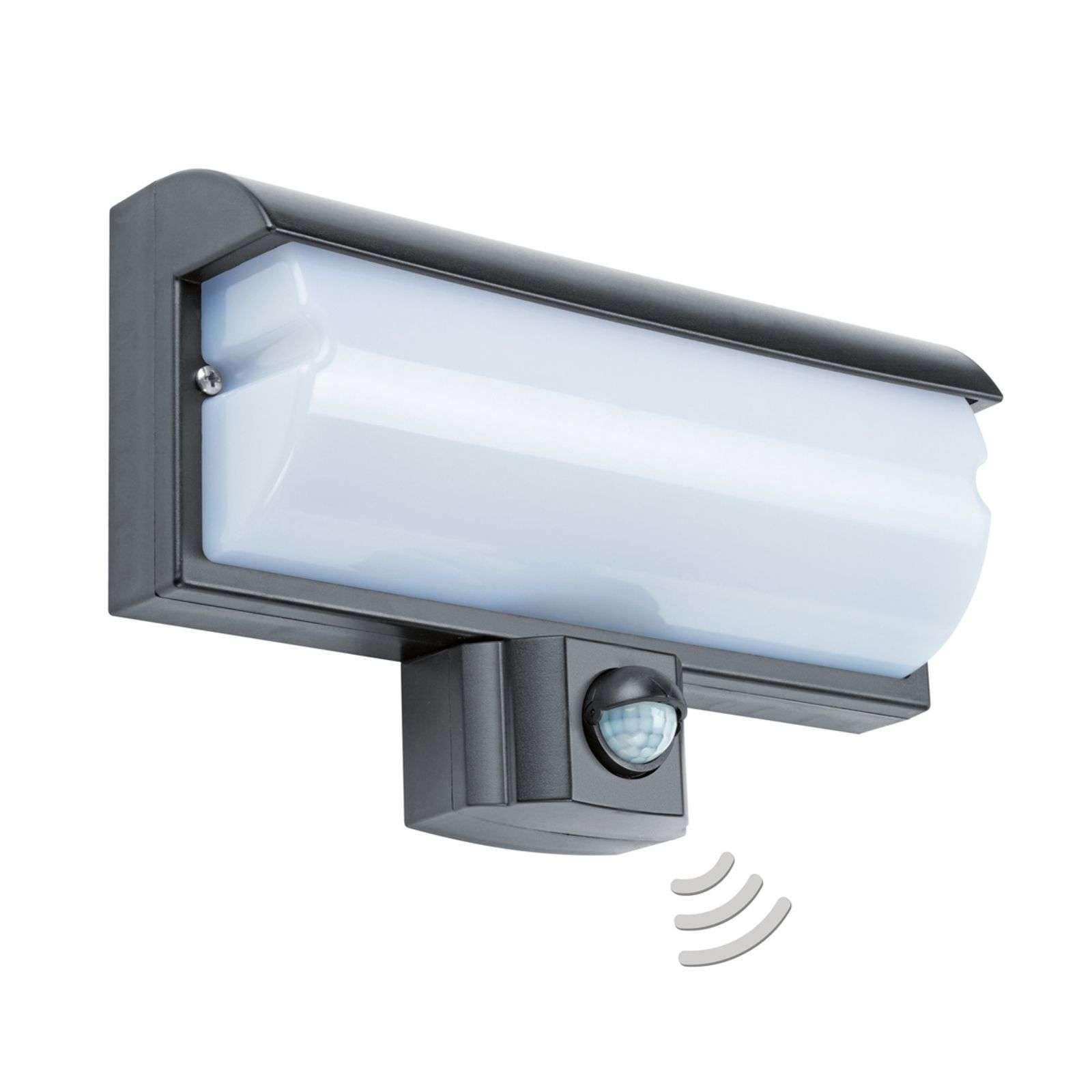 Led Wandspot Lbo 21679 Met Sensor Ip44 In 2020 Led Buiten Wandlamp Wandlamp