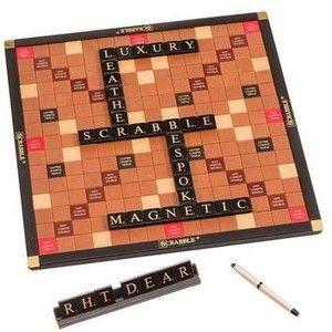 Georges & Monica Bloumels Luxury Bespoke Leather Scrabble Set