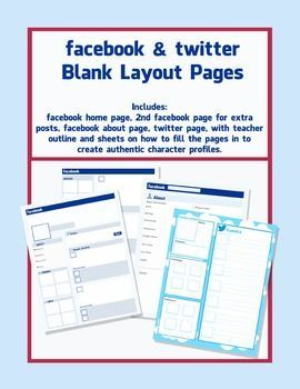 facebook and twitter character pages - blank templates | fictional, Powerpoint templates