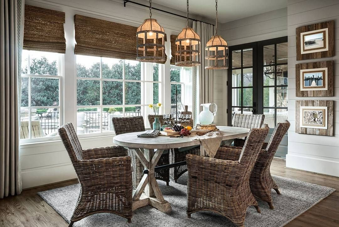 Make Sure To See This Gorgeous Coastal Farmhouse Style Diningroom On The