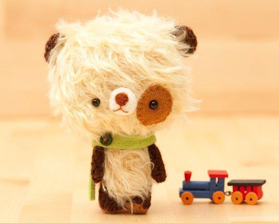 Teddy bear plush toy / plushie bear / miniature doll / amigurumi - made to order - Milun #bearplushtoy