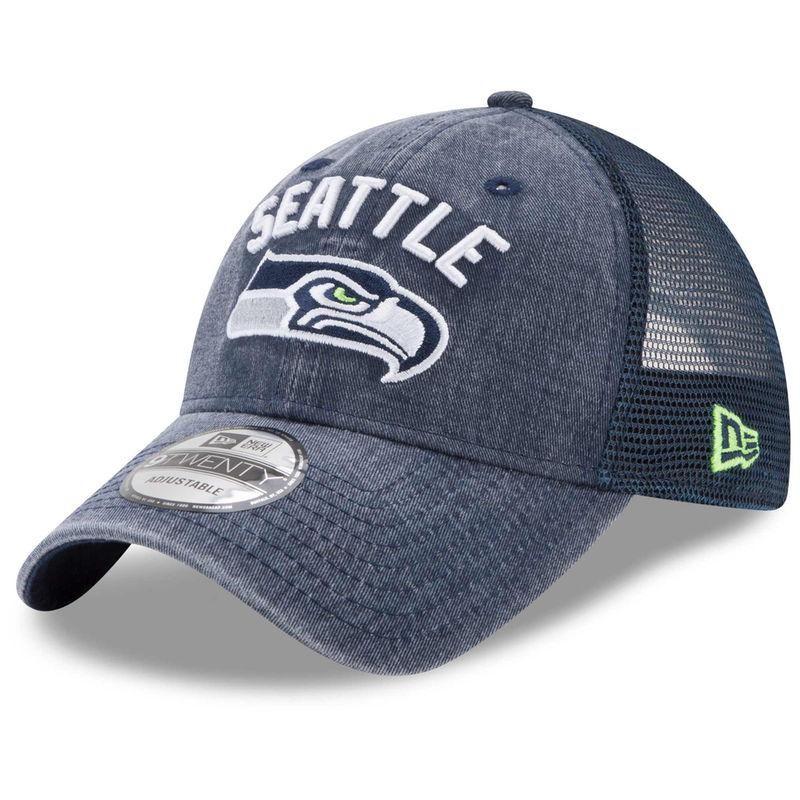 best sneakers 0a32f 682f8 Seattle Seahawks New Era Rugged Team Trucker Adjustable Snapback Hat -  College Navy