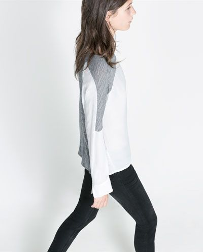 ZARA - NEW THIS WEEK - TWO-TONE WOOL T-SHIRT