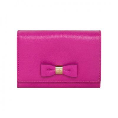 45b396e0062d 2013 Mulberry Bow French Purse Mulberry Pink Glossy Goat
