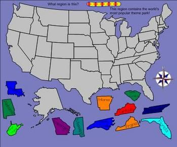 Free Us Geography Game - 50 States for the Smartboard. Get your ...