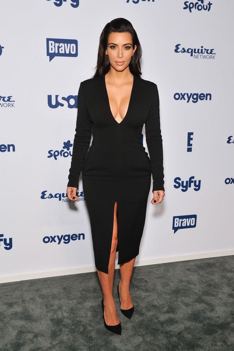 Kim Kardashian at NBC's upfronts in New York City
