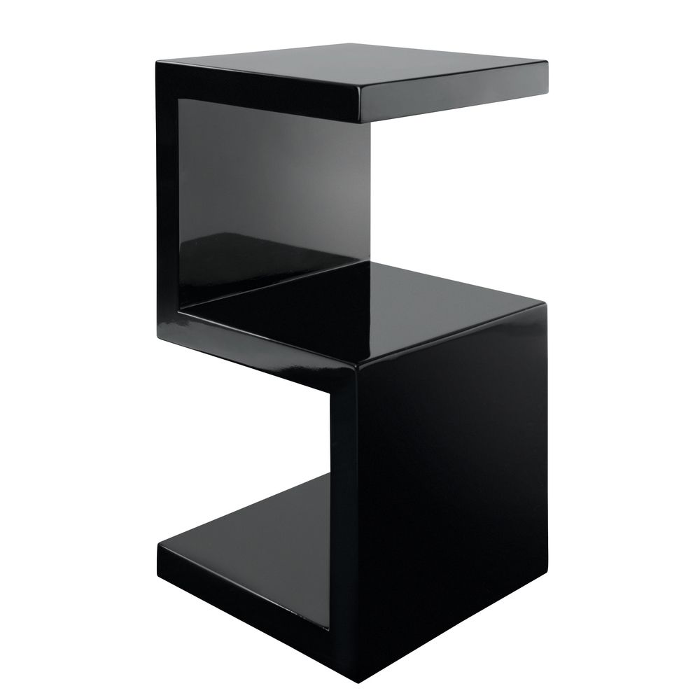 Modern black side table - Black Side Table