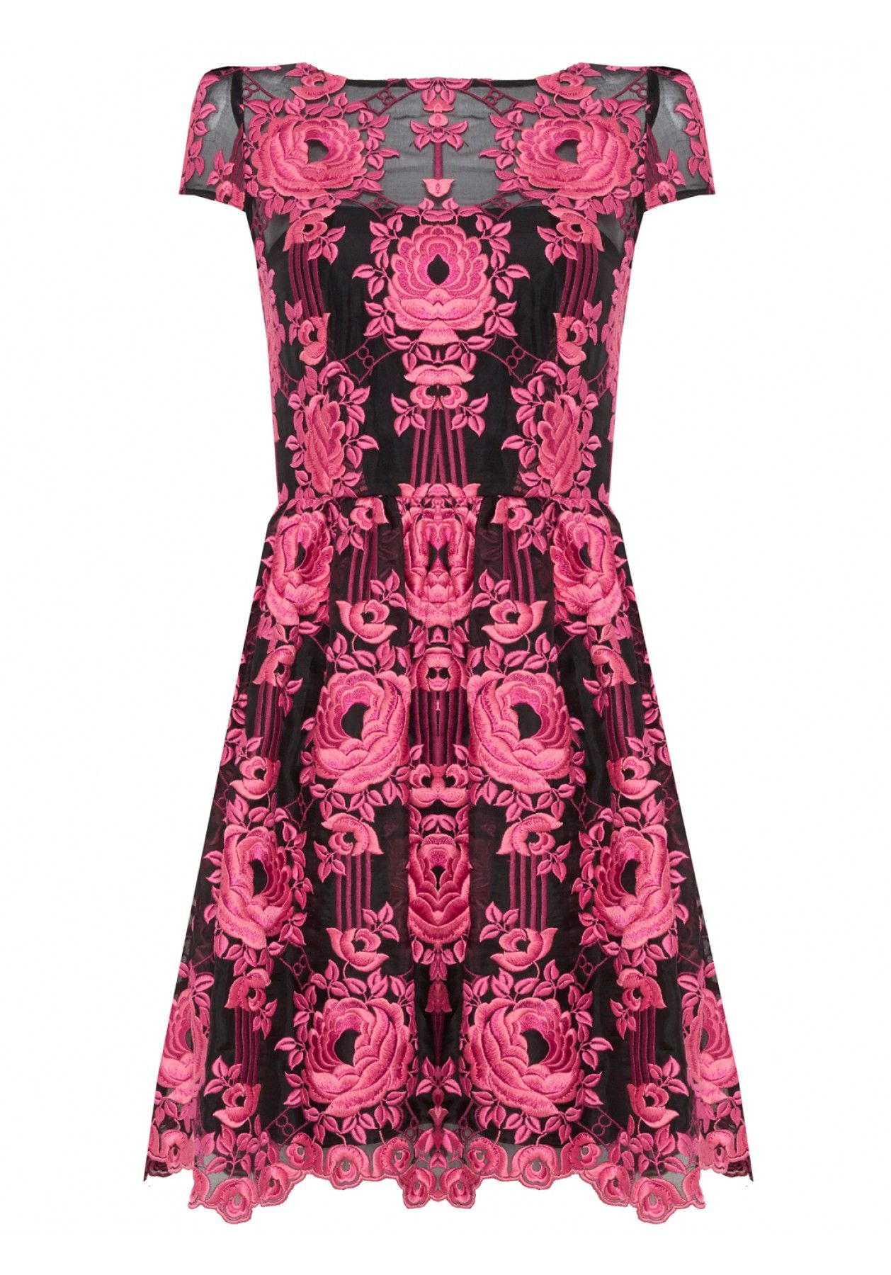 Pretty in pink is a serious understatement! Our Chantil Embroidered ...