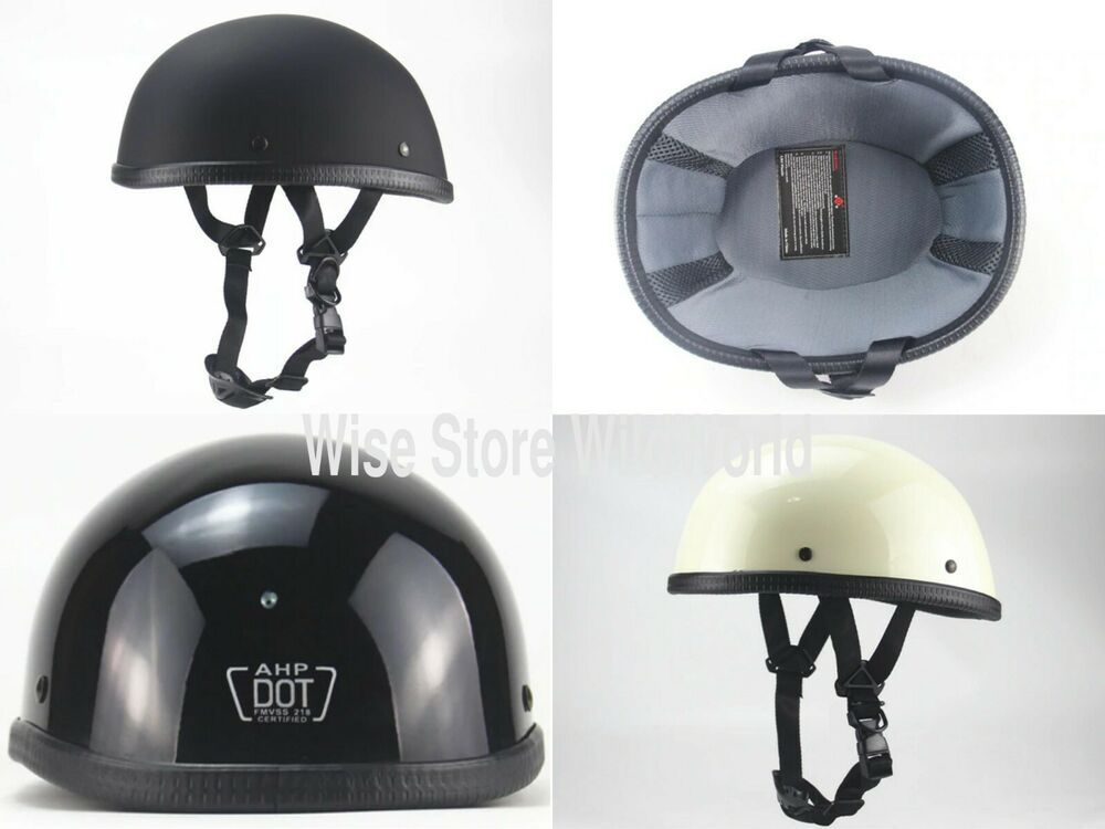 Vintage Half Face Motorcycle Helmet Retro German Kask Cafe Racer Scooter Cruiser Ahp Motorcycle Helmets Vintage Open Face Helmets