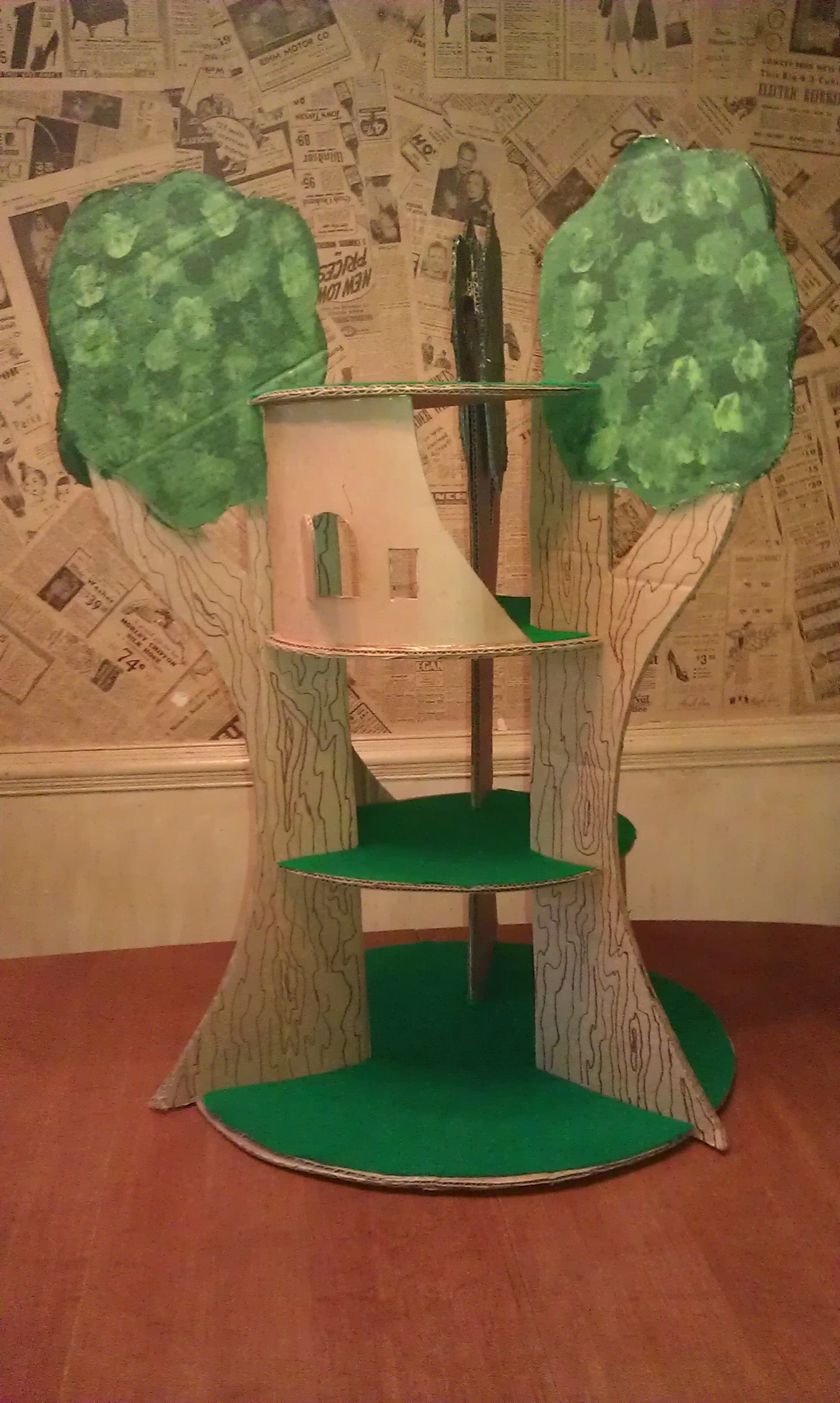 Cardboard Treehouse Download Template At Familyfun