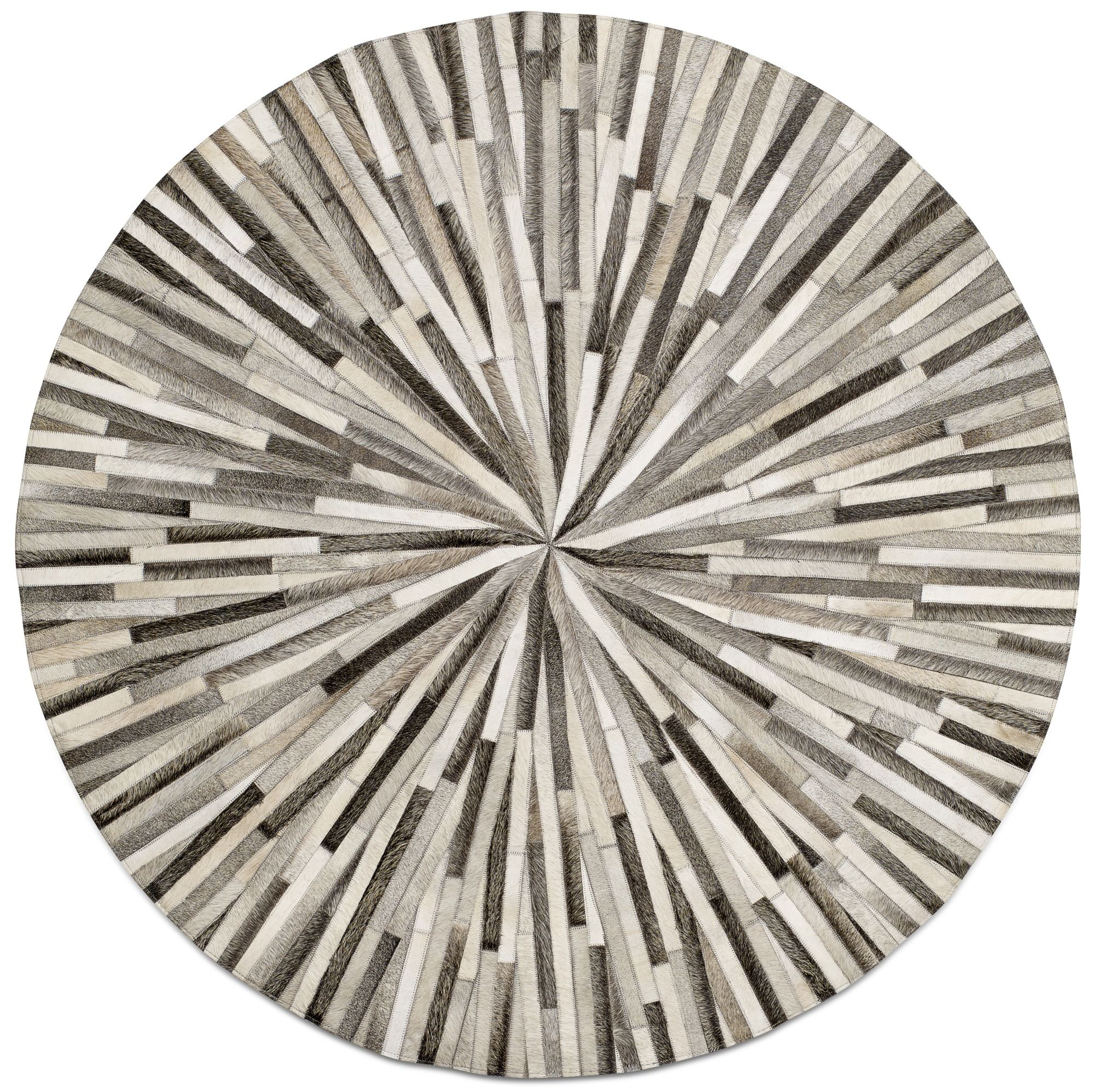 Grey cowskin 150cm diameter contemporary round rugs quality from boconcept