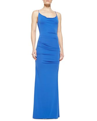 1d1bed7c744 Nicole Miller Spaghetti-Strap Ruched Gown