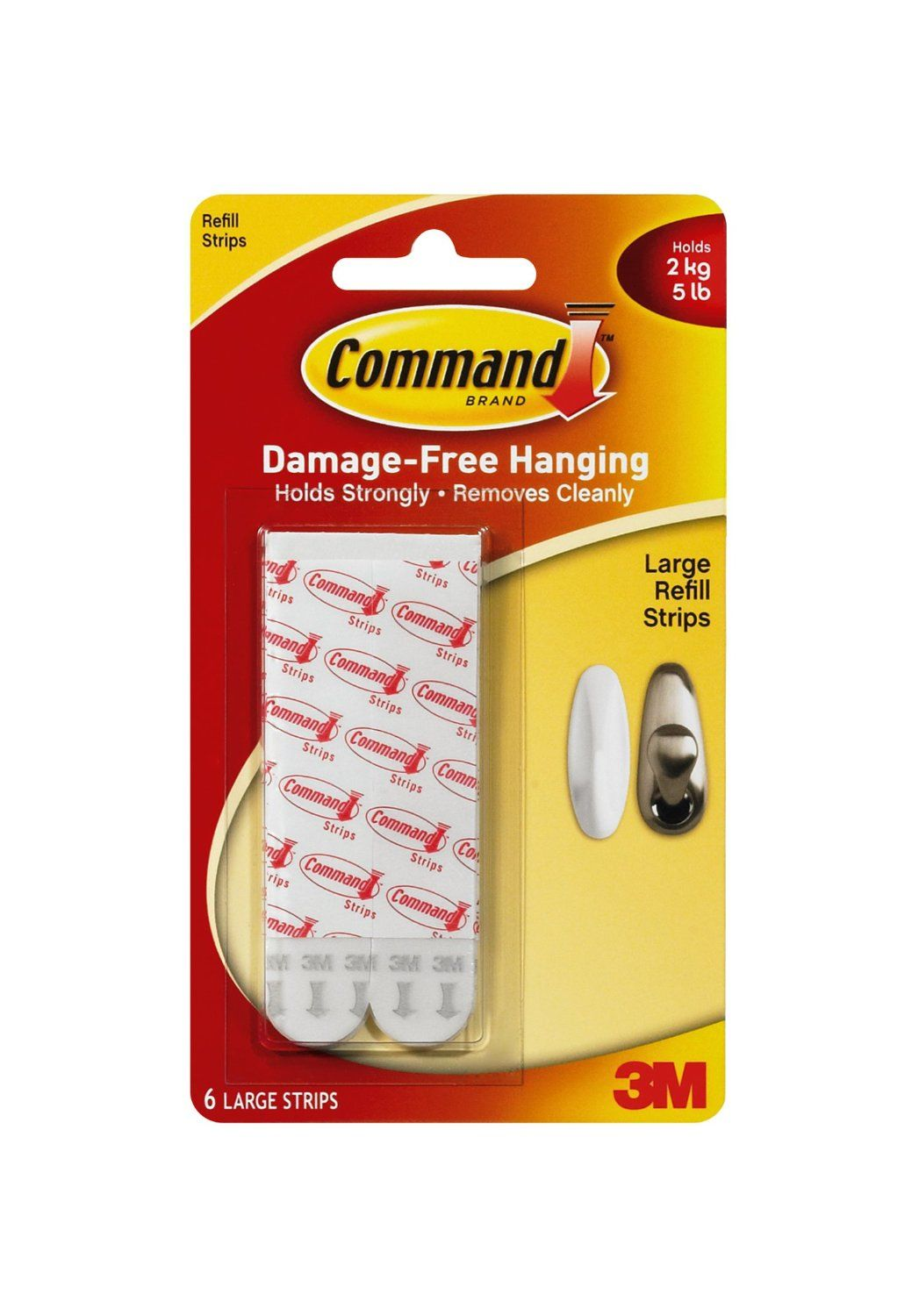 Command mounting refill strips large 6strip