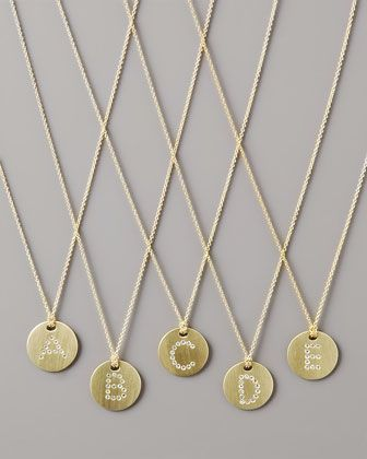 Letter medallion necklace by roberto coin with my childs first letter medallion necklace by roberto coin with my childs first initial someday mozeypictures Images