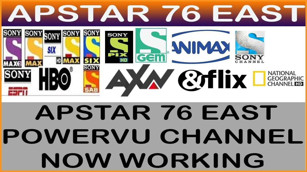 Apstar 76 East Spe Network Axn Sony Network All Channel New Powervu Key Free Online Education Online Tutoring Online Education