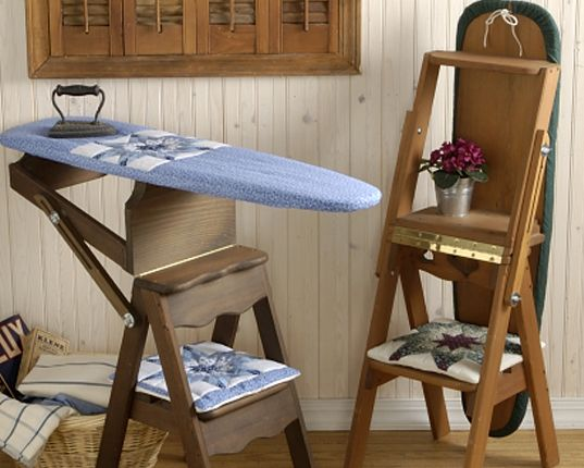 The Bachelor Chair Is A Step Stool Seat And Ironing Board