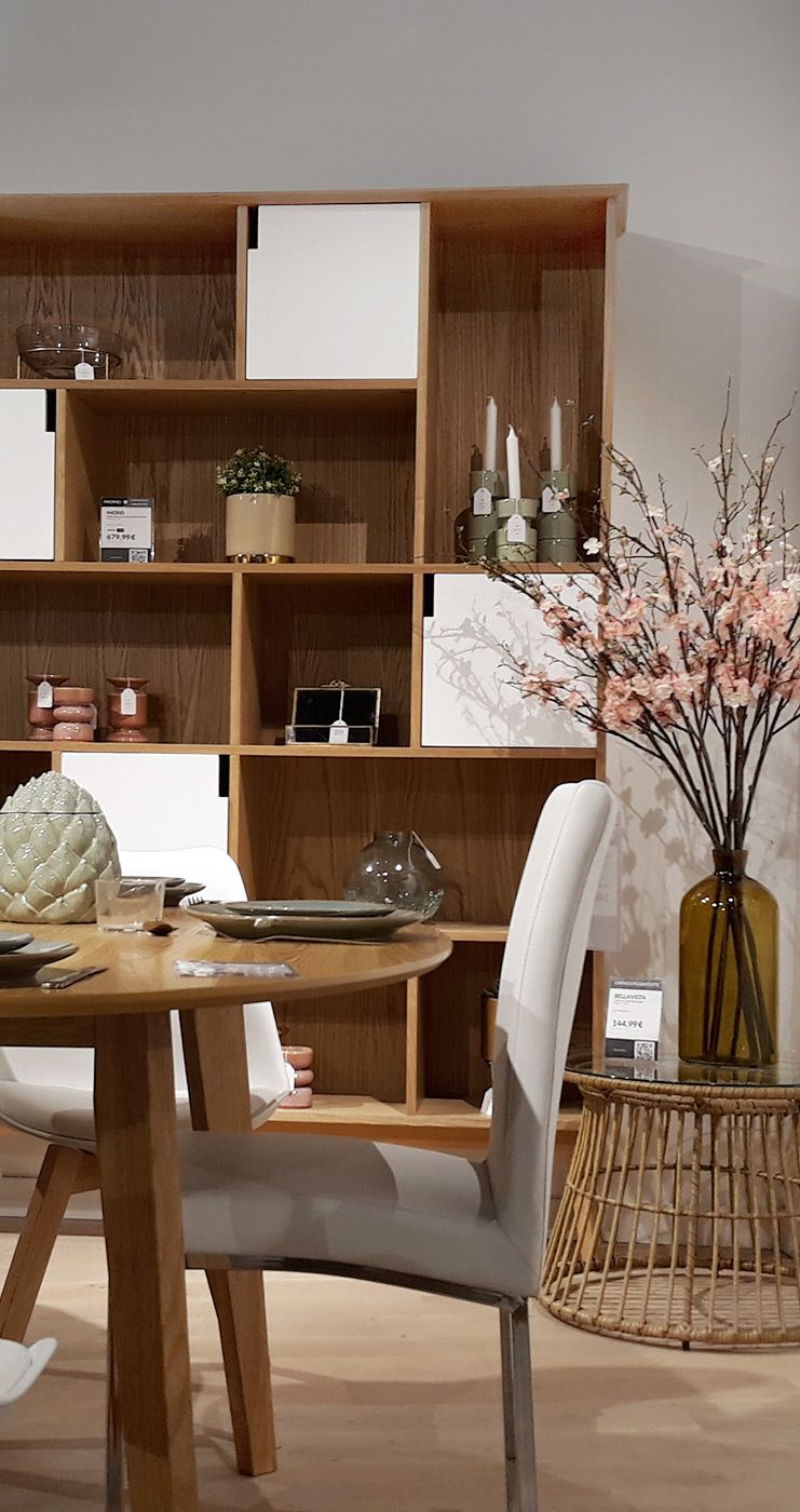 Bibliotheque Design Avec Portes Blanc Et Chene Ingrid Miliboo Bibliotheque Design Decoration Maison Meuble Design