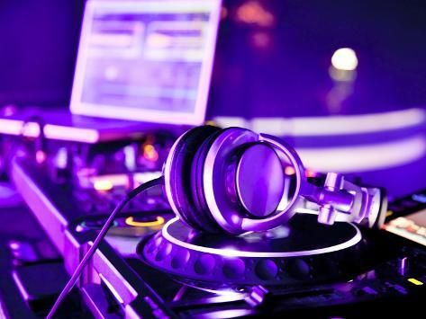 size: 24x18in Photographic Print: Dj Mixer With Headphones by maxoidos :