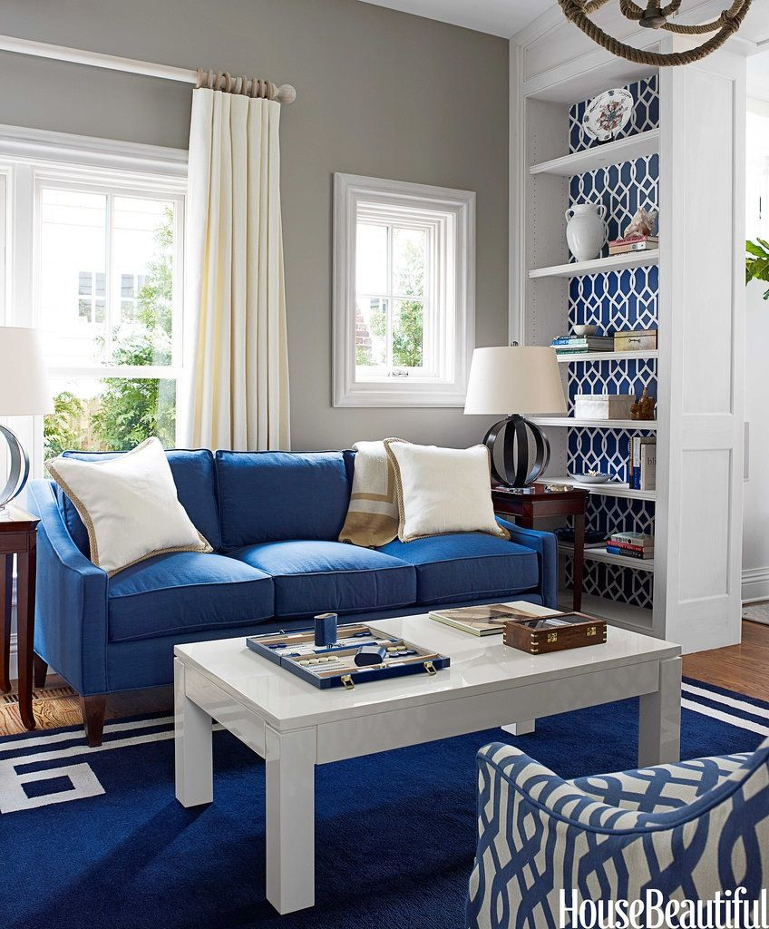 Best Committed To Blue Wallpaper Living Room Accent Wall 400 x 300