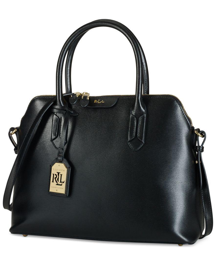 1210c2cdb8 Lauren Ralph Lauren Tate Dome Satchel - Designer Handbags - Handbags    Accessories - Macy s