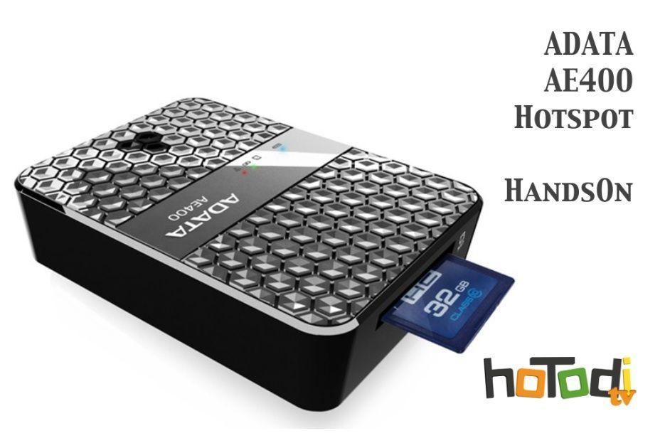ADATA AE400  Wifi Accesspoint - Cardreader - Mediaserver und Ladegerät