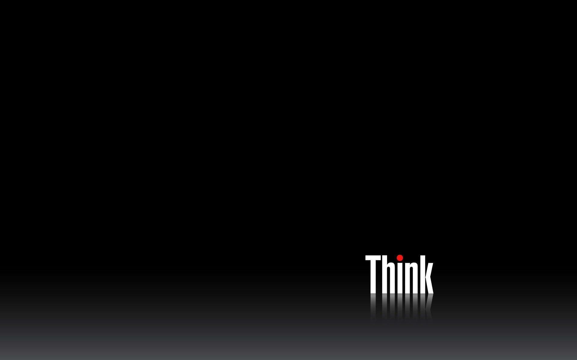 1920x1200 Lenovo Think Wallpapers Back Here Is The Black Lenovo Think Wallpaper Lenovo Wallpapers Black Wallpaper Desktop Wallpaper