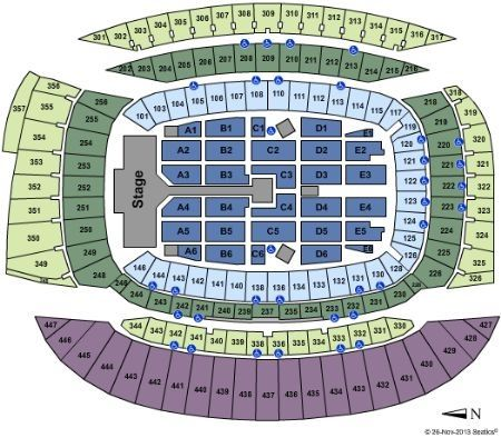 For Anybody Going To The Chicago Wwa Tour Concert Here Is The Seating Chart 3 Chicago Concerts Chicago Tours I School