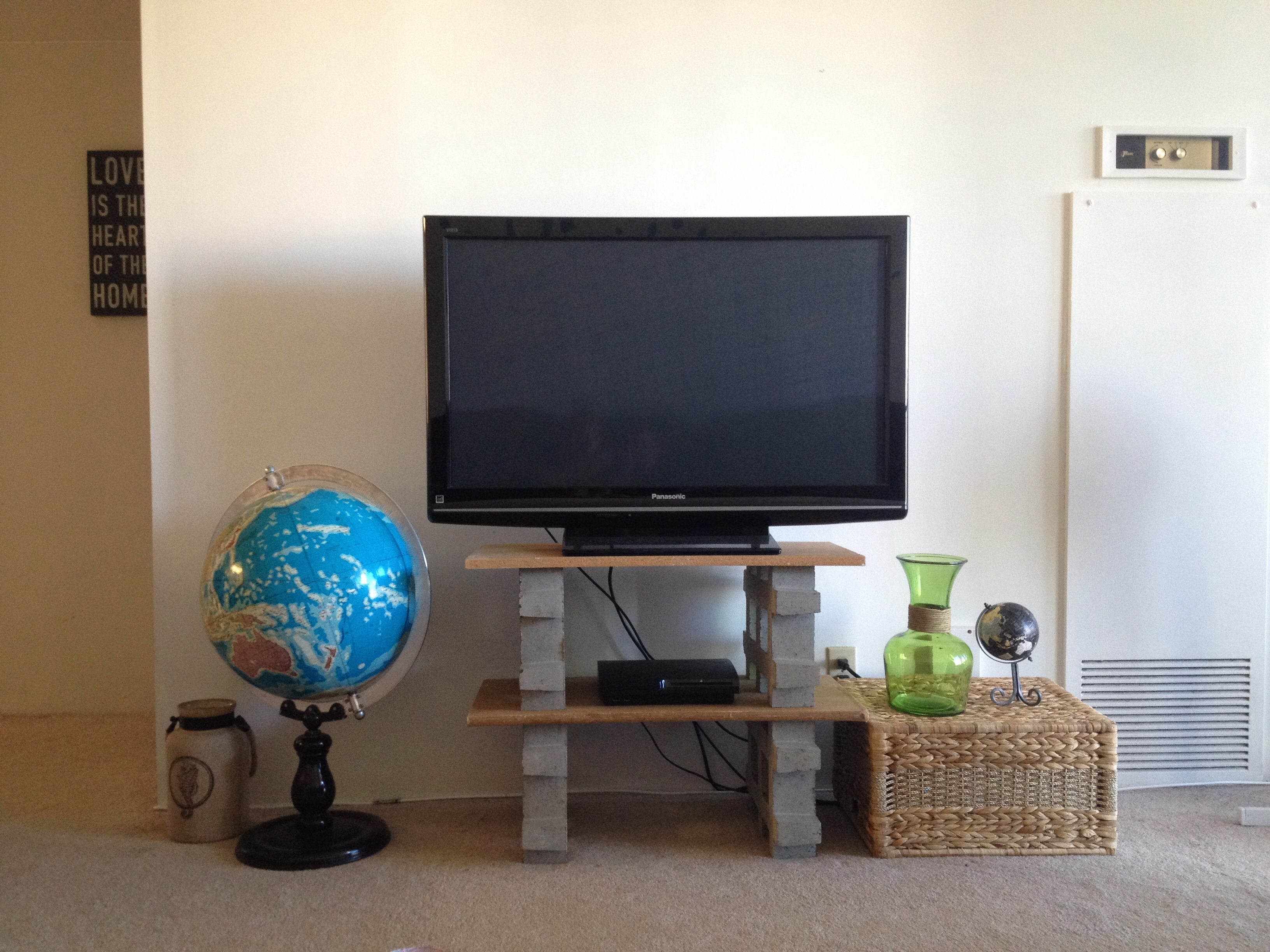 Pinterest Inspired Diy Tv Stand Blocks 4 15 At Home Depot Wood