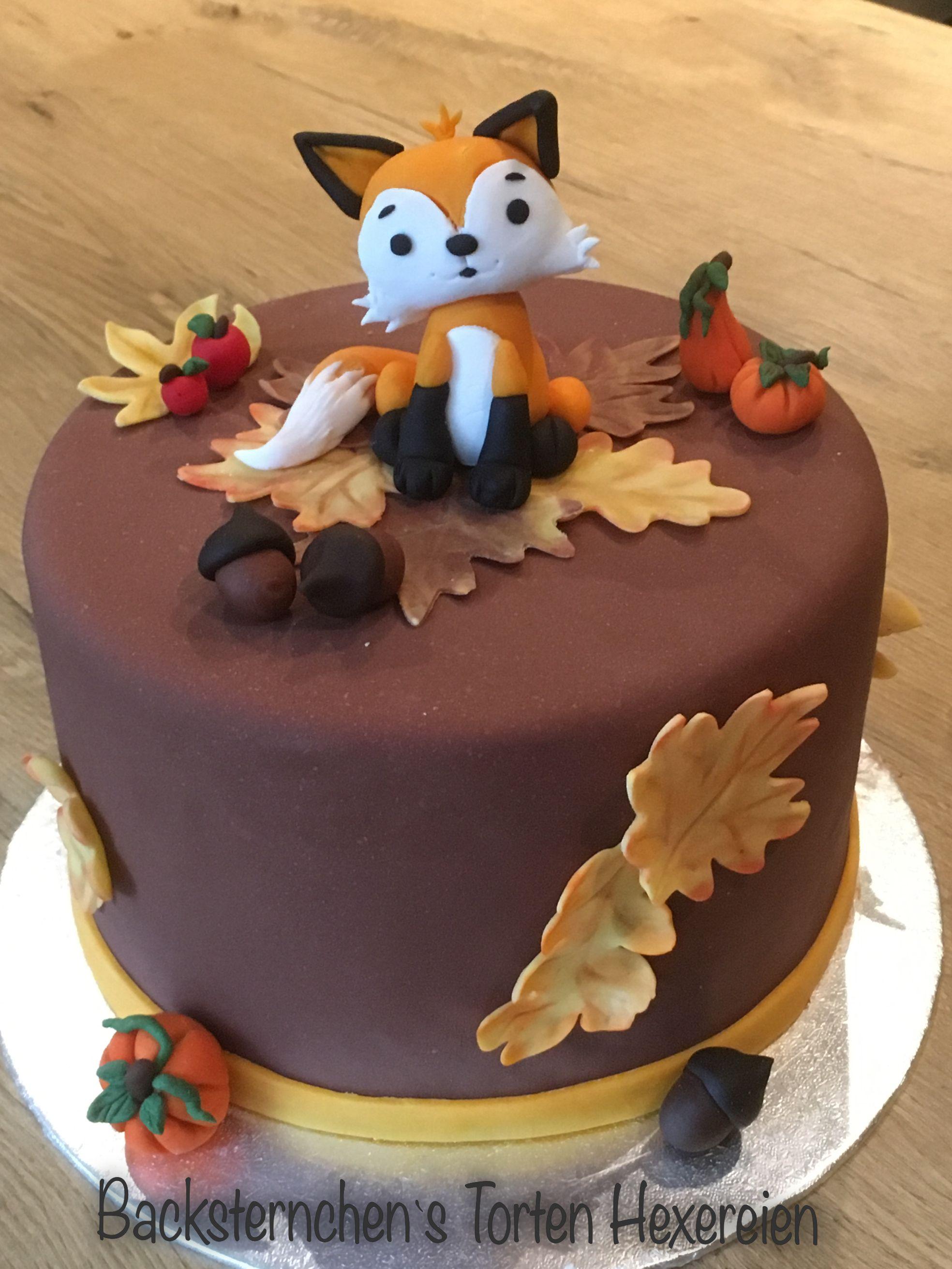 Anleitung Kleiner Fuchs Motivtorte Kuchen Mit Fondant Fuchs Kuchen