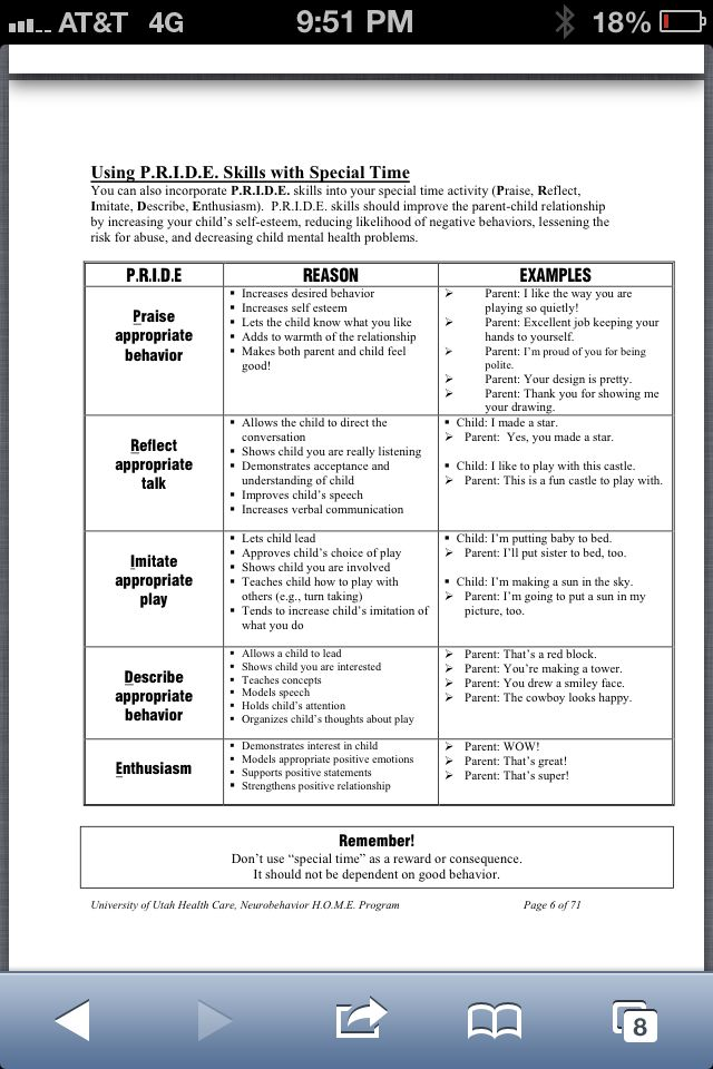 Pcit Improving Child Behavior >> Pride Skills From Pcit I Use These With Almost All Of My Child