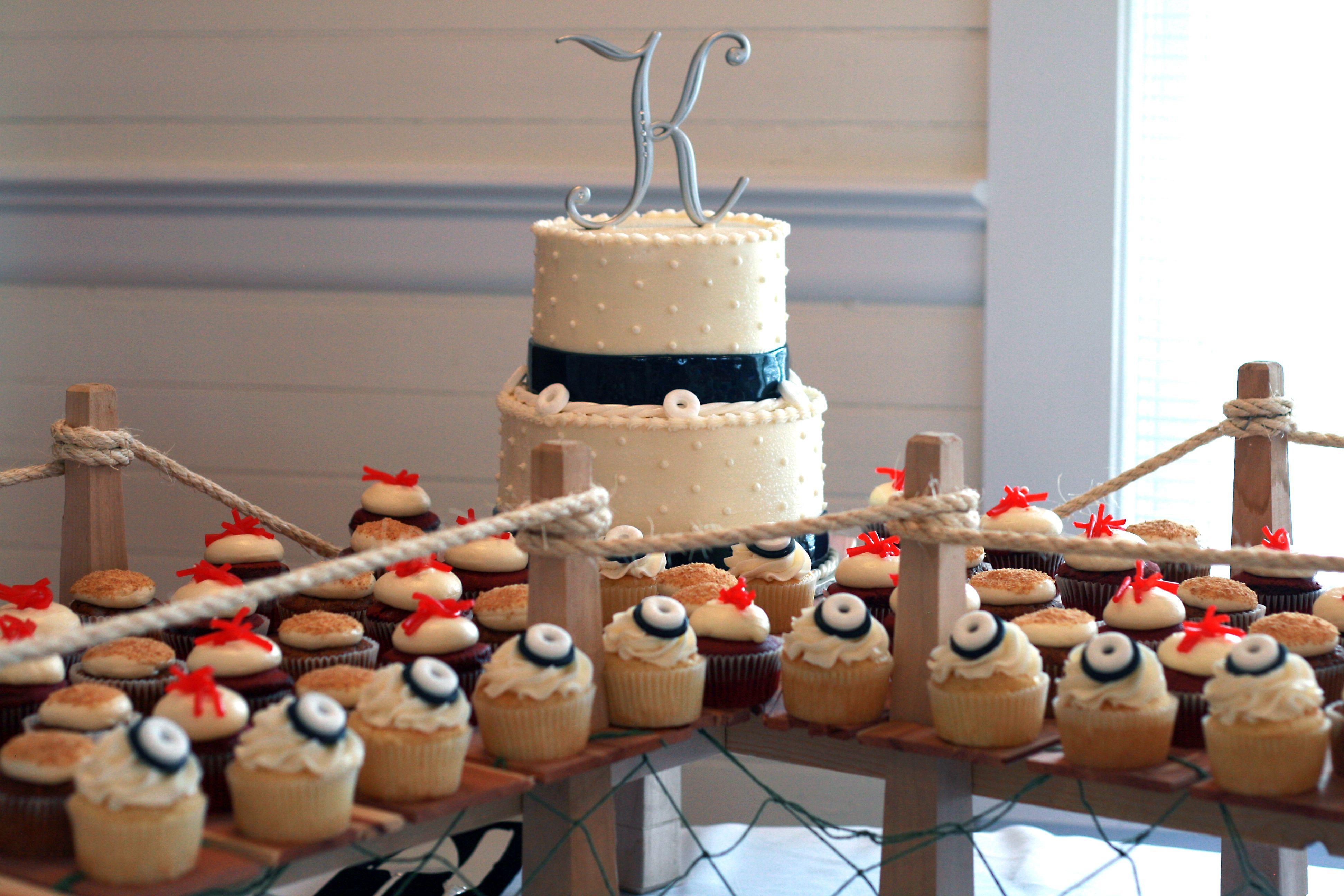 small dock cupcake stand Nautical Wedding Nautical