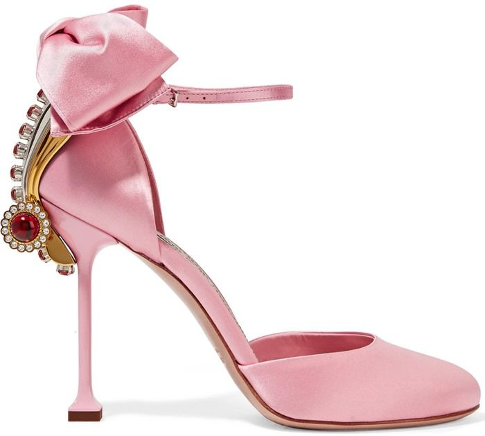 Miu Miu Embellished Ankle Strap Pumps sale low price fee shipping Phjl4TD