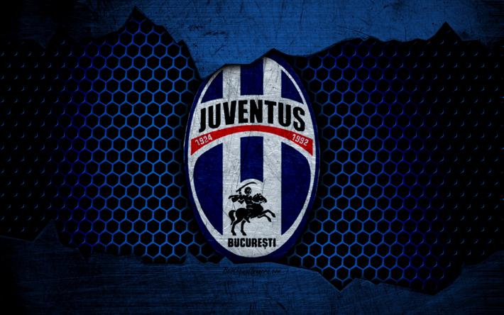футбол 1 Wallpaper: Download Wallpapers Juventus Bucuresti, 4k, Logo, Liga 1