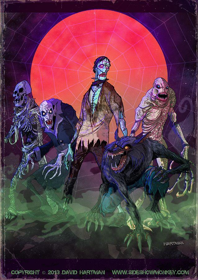 Halloween Monsters By Hartman By Sideshowmonkey Deviantart Com On Deviantart Halloween Art Horror Art Horror Monsters