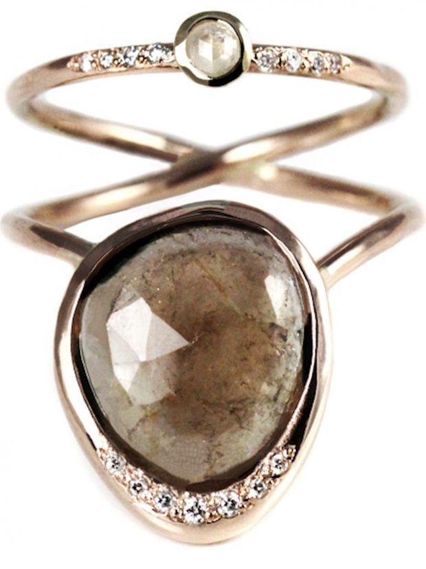 SIRCIAM Rose Gold Sun Moon Tourmaline Diamond Ring SUN