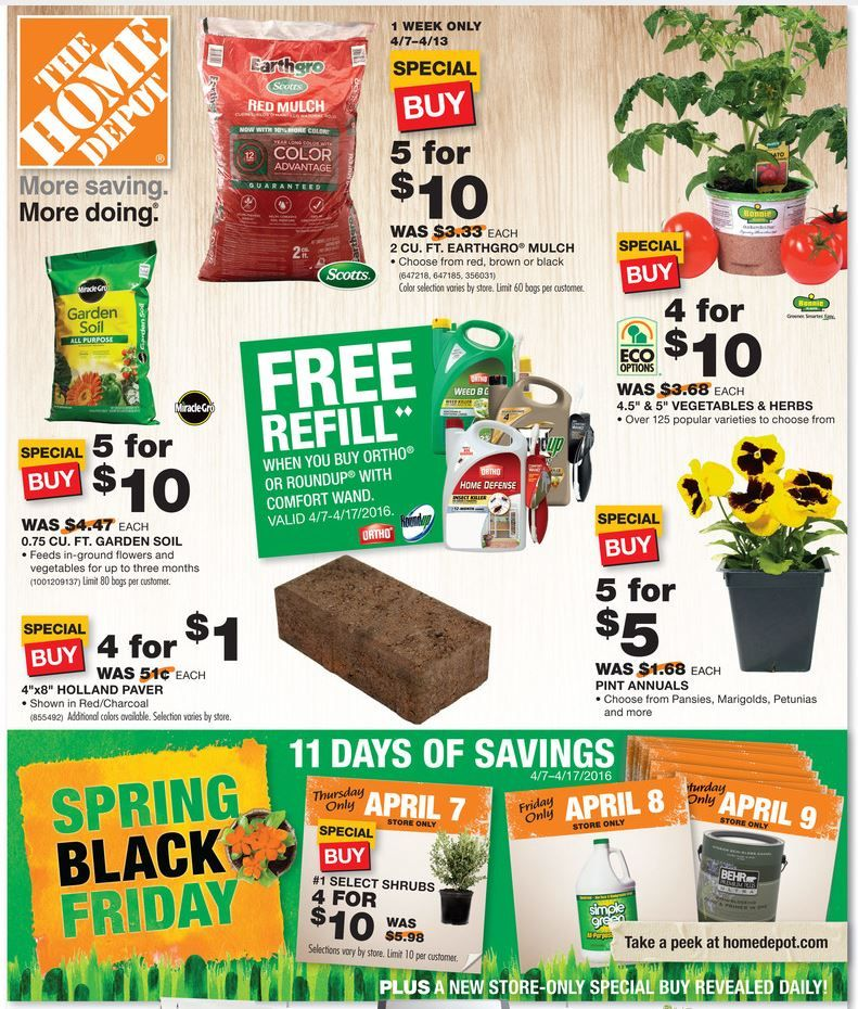 "Home Depot Spring ""Black Friday"" HOT Deals On Mulch"
