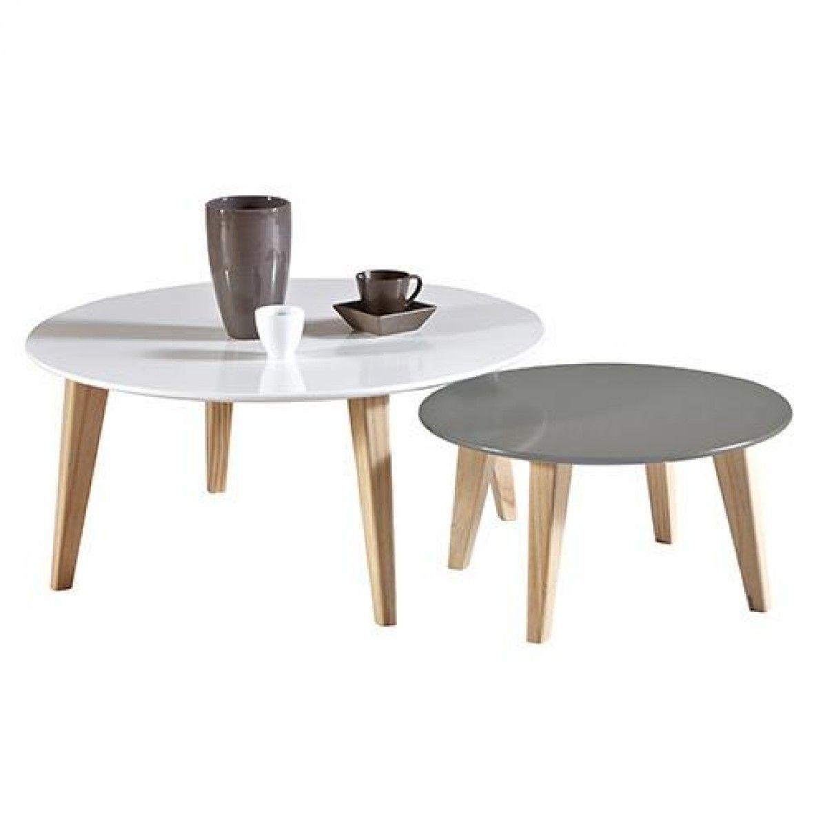 599 00 זוג שולחנות סלון בעיצוב מודרני תוצרת צרפת דגם ברלין Scandi Coffee Table Coffee Table Coffee Table To Dining Table [ 1200 x 1200 Pixel ]