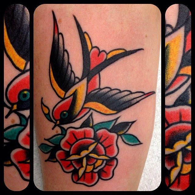 Bradley Tompkins Swansea Traditional Tattoo Traditional Style Tattoo Sleeve Tattoos