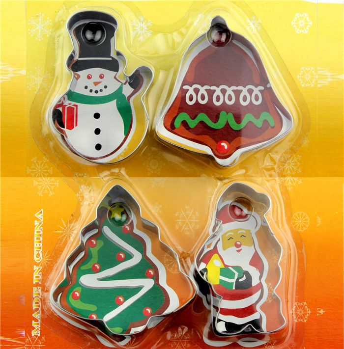 Cookie Cutter Stainless Steel Snowman Christmas tree Santa Claus
