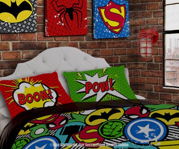 superhero bedding for boys bedding twin superhero duvet boys superhero bedroom superhero room decor comic book bedding kids bedding boys