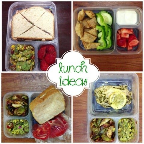 Weekly take to work lunch ideas. #ziploc #bento #lunchbox