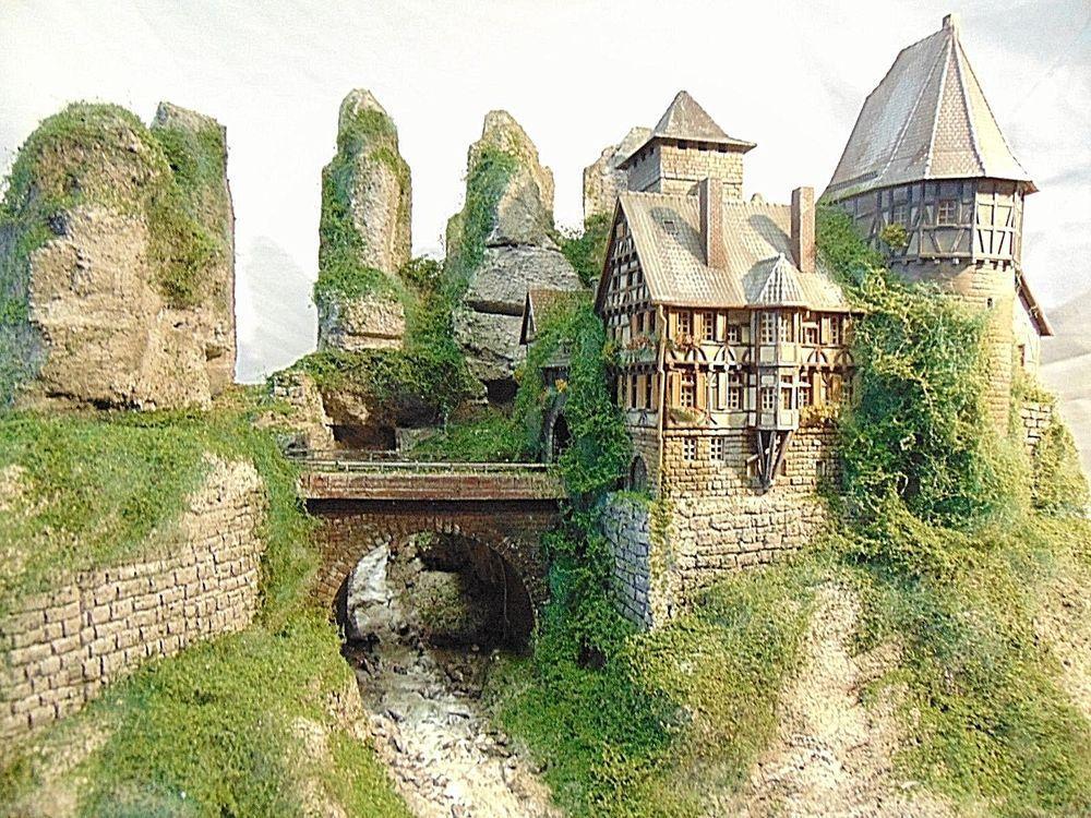 Diorama H0 Burg Kloster Schloss Hubertusburg H0 Modell Top Preis Modellbau Modelleisenbahn Spur H0 Ebay Dioram Scenery Fantasy Castle Nature Travel