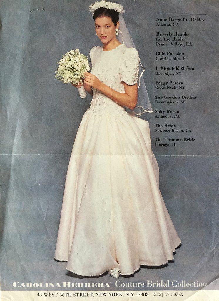 Carolina Herrera Couture Carolina Herrera Bridal Wedding Gowns Vintage Couture Bridal Gowns