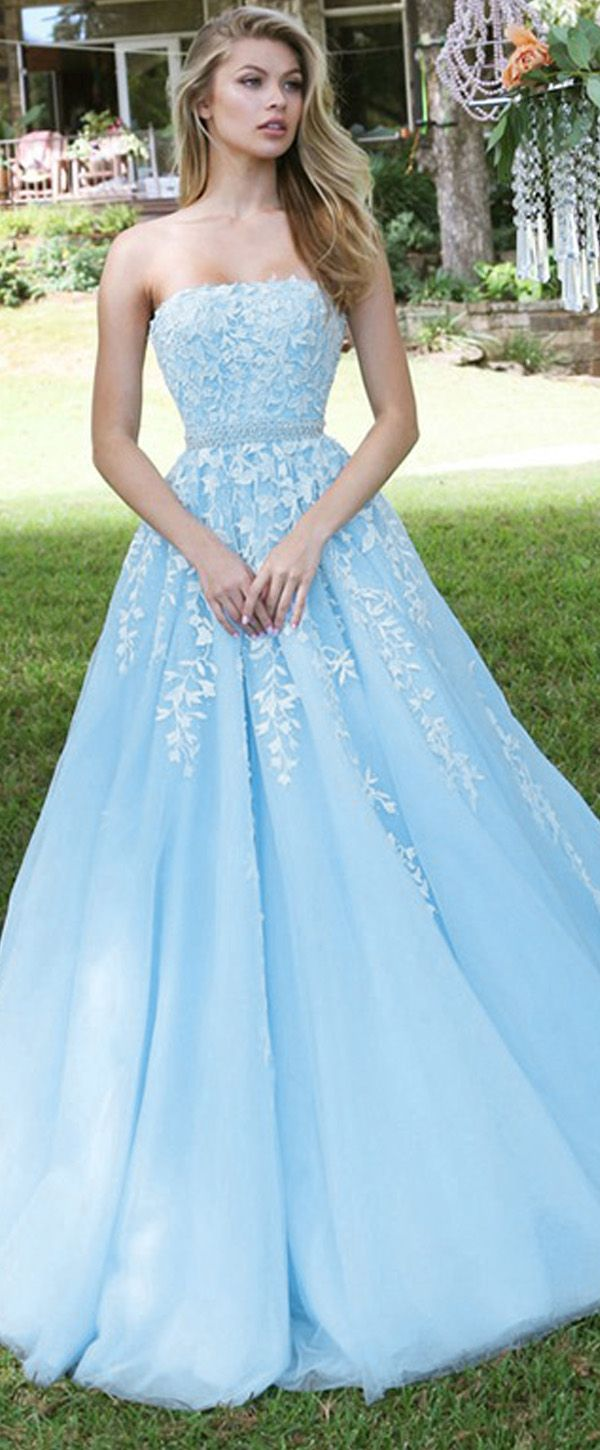 Marvelous tulle strapless neckline aine prom dresses with beadings