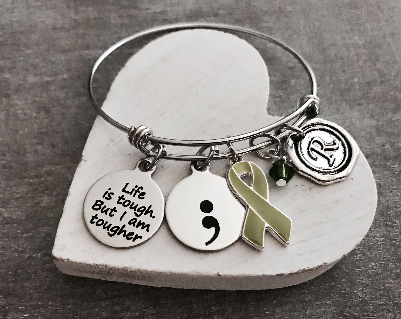 Awareness Ribbon//cancer Survivor Charm Green